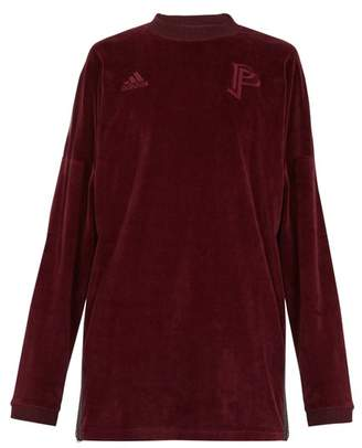 adidas By Pogba - Long Sleeve Velvet Sweater - Mens - Burgundy