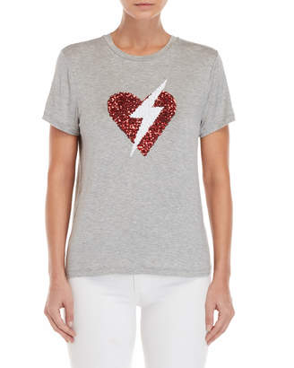 Romeo & Juliet Couture Romeo + Juliet Couture Sequin Lightning Heart Tee