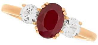 Macy's Ruby (1 ct. t.w.) & White Sapphire (5/8 ct. t.w.) Ring in 14k Gold