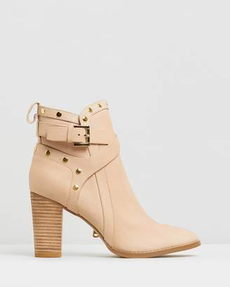 Walnut Melbourne Gigi Leather Strap Boots