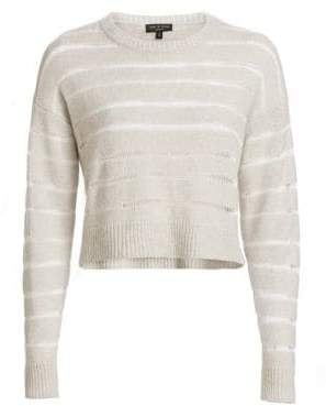 Rag & Bone Cropped Sheer Stripe Sweater