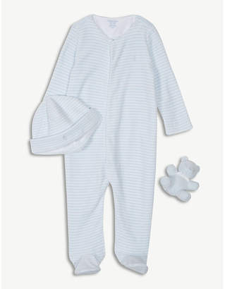 Ralph Lauren Bodysuit, hat and teddy bear set 3-24 months