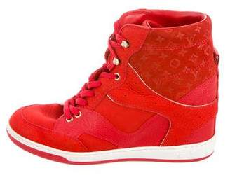 Louis Vuitton Logo Embossed High-Top Sneakers