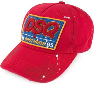 DSQUARED2 DSQ logo patch baseball cap