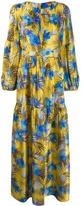 Black Coral tropical printed maxi dress