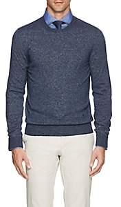 Isaia Men's Cashmere-Silk Sweater-Navy