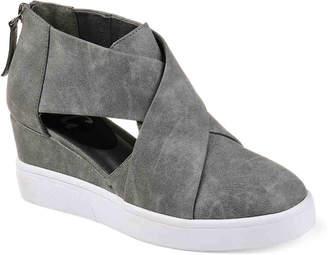 Journee Collection Seena Wedge Sneaker -Light Blue - Women's
