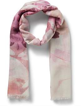 Gregory Ladner Faded Floral Scarf