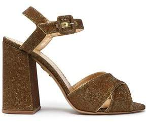 Charlotte Olympia Leather-Trimmed Lurex Sandals