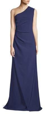 One-Shoulder Floor-Length Gown