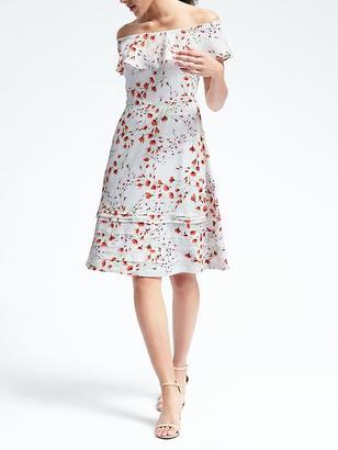 Floral Off-Shoulder Dress $128 thestylecure.com
