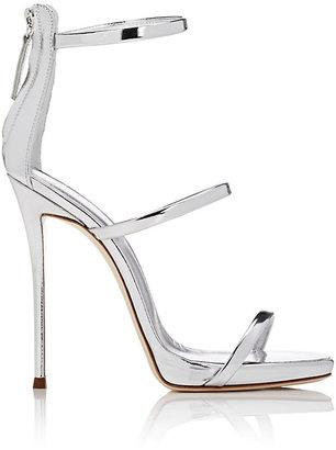 Giuseppe Zanotti Women's Coline Leather Triple-Strap Sandals $845 thestylecure.com