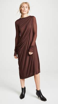 Rick Owens Lilies Drape Front Dress