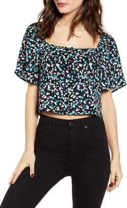 Leith Square Neck Crop Top