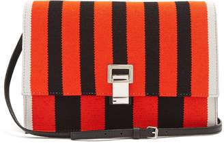 Proenza Schouler Lunch striped leather small cross-body bag