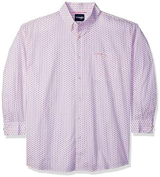 Wrangler Men's Tough Enough to Wear Pink Big and Tall Button Front Shirt