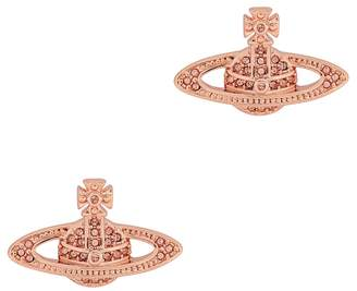 Vivienne Westwood Mini Bas Relief Rose Gold Tone Earrings