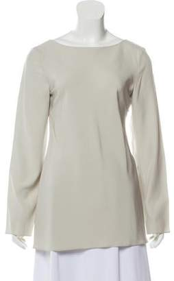 Calvin Klein Collection Silk Long Sleeve Top