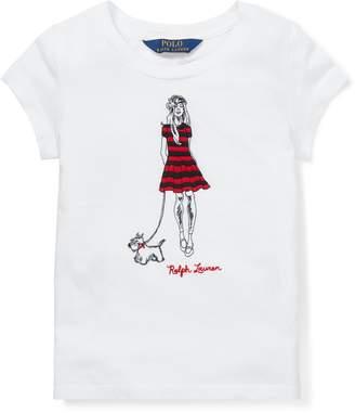 Ralph Lauren Embroidered Cotton T-Shirt