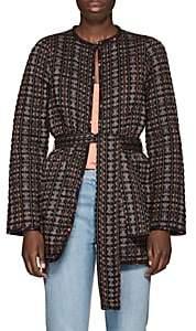 Ace&Jig Women's Reversible Geometric-Pattern Cotton Jacket - Navy