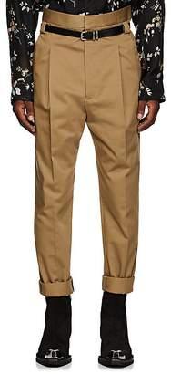 Haider Ackermann Men's Pleated High-Rise Slim Trousers