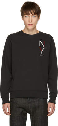 Saturdays NYC Black Bowery NY Crewneck Sweater