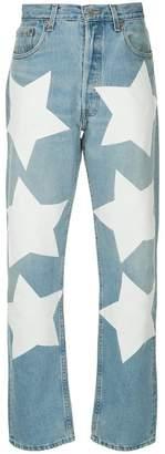 Miharayasuhiro star print jeans