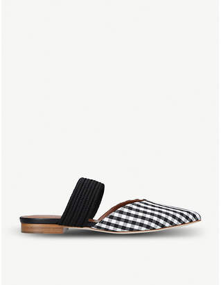 Malone Souliers Maisie Luwolt gingham textile and braided flats
