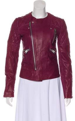 Anine Bing Asymmetrical Leather Jacket
