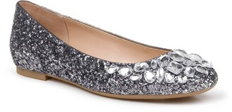 Badgley Mischka Mathilda Embellished Ballet Flat