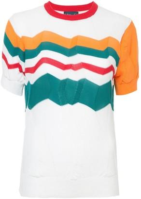 Kolor zig zag knitted top