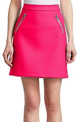 Moschino Women's Zip Pocket Mini Skirt