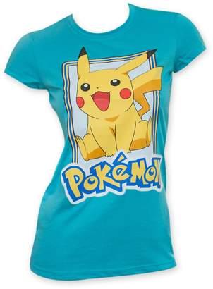 Pokemon Pikachu Women's Jump T-Shirt Small Blue