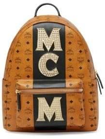 MCM Medium Stark Studded Logo Backpack