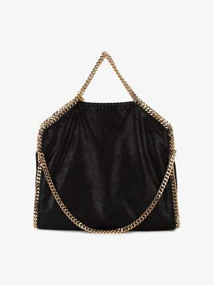 Stella McCartney large Black Gold Falabella tote bag