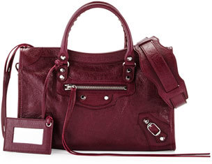 Balenciaga Classic City Nickel Small Tote Bag, Violet $1,645 thestylecure.com