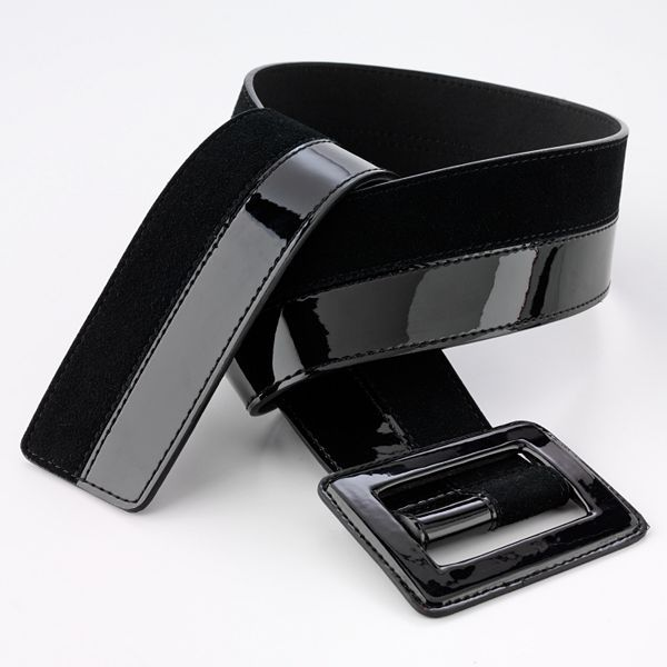 Apt. 9® Faux-Patent-Leather Slider Belt