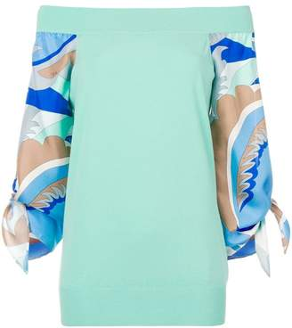 Emilio Pucci off the shoulder jumper
