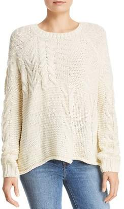 Aqua Mixed Cable Knit Sweater - 100% Exclusive