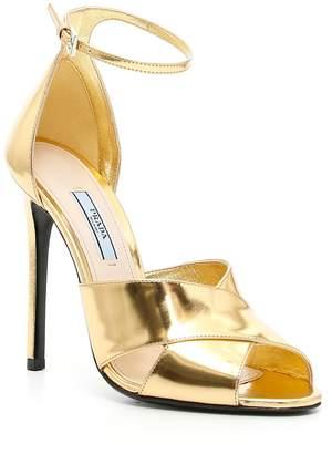 Prada Mirror Calfskin Sandals