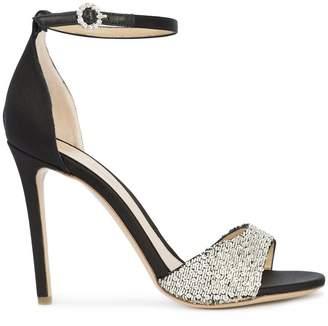 Monique Lhuillier sequinned embellished sandals