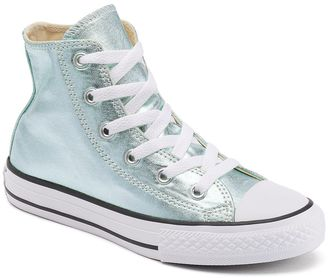 Kid's Converse Chuck Taylor All Star Metallic High-Top Sneakers $40 thestylecure.com