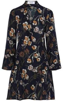Derek Lam 10 Crosby Ruffled Floral-Print Matelassé Silk-Blend Mini Dress