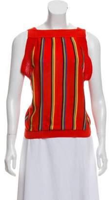 Saint Laurent Sleeveless Sweater Vest multicolor Sleeveless Sweater Vest