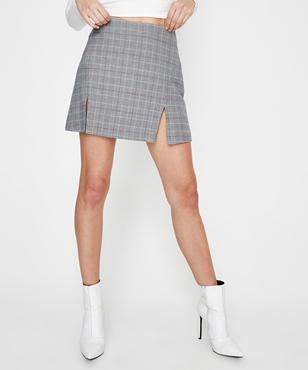 Alice In The Eve Check Panel Line Mini Skirt