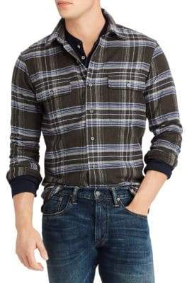 Polo Ralph Lauren Classic-Fit Flannel Sport Shirt