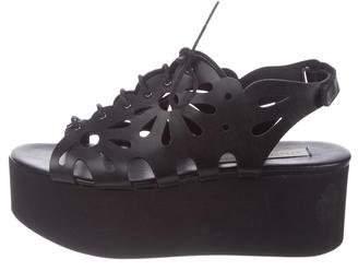 Stella McCartney Laser Cut Flatform Sandals
