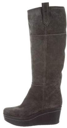 Gianvito Rossi Knee-High Wedge Boots
