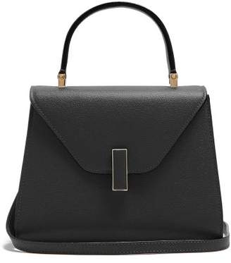 Valextra Iside Mini Grained Leather Bag - Womens - Black