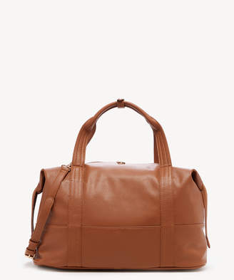 Sole Society Women's Morgan Weekender Faux Leather In Color: Cognac Bag From